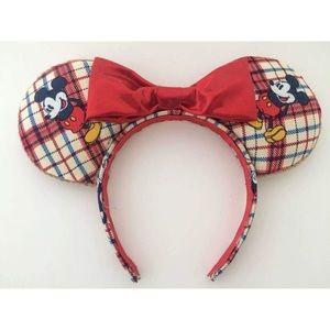 Mickey Mouse plaid Disney ears